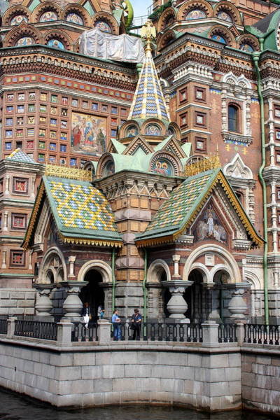 Cathedral Of Christ The Savior Photograph - Detail Resurrection Church by Christiane Schulze Art And Photography