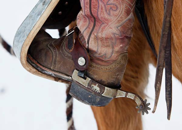Wall Art - Photograph - Detail Shot Of Cowboy Boot by Ben Girardi