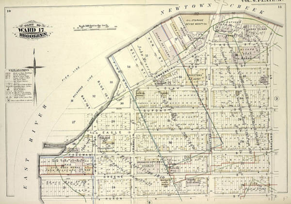 Deposit Drawing - Detailed Estate And Old Farm Line Atlas Of The City by Litz Collection