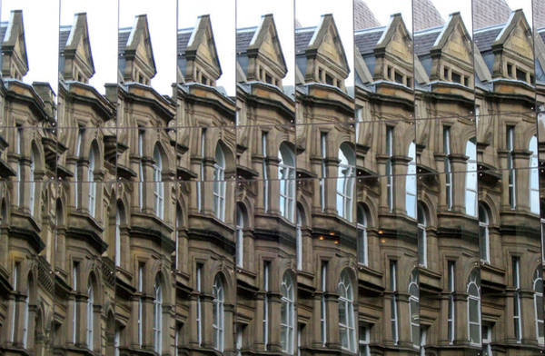 Photograph - Detailed Window Reflections At The Bourse. Boar Lane. Leeds Uk. by Rob Huntley