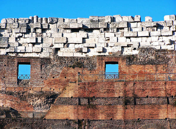 Photograph - Details Of The Colloseum's Walls by Jennifer Robin