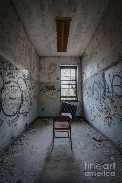 Urbex Wall Art - Photograph - Detention Room by Michael Ver Sprill
