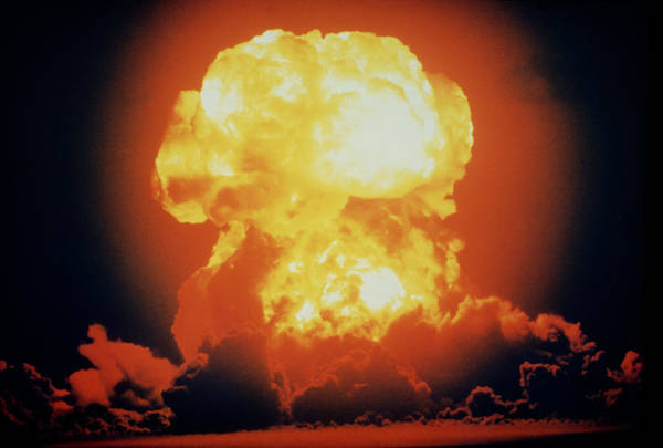 Wall Art - Photograph - Detonation Of A Hydrogen Bomb At Bikini Atoll. by Us Navy/science Photo Library