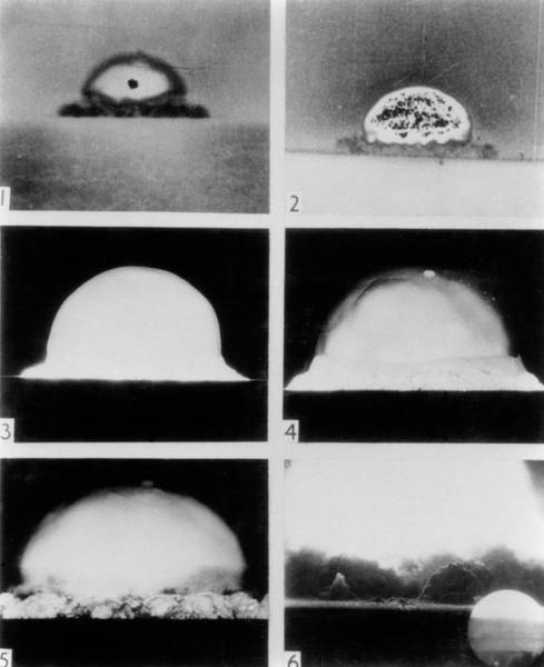 Nuclear Bomb Wall Art - Photograph - Detonation Of First Atomic Bomb by U.s. National Archives/science Photo Library.