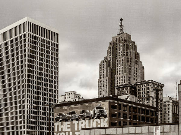Photograph - Detroit Cityscape - Penobscot Building by James Howe