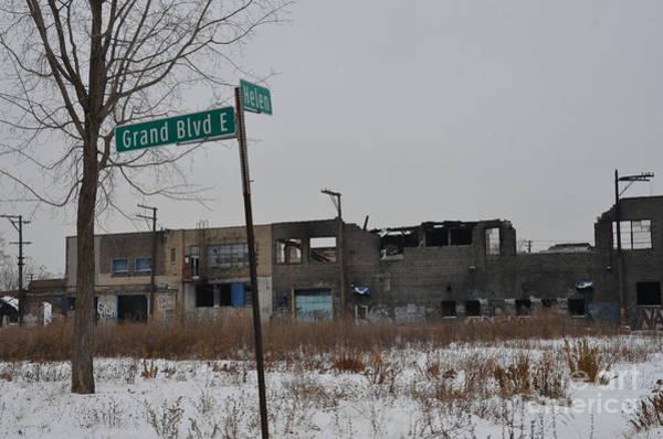 Photograph - Detroit East Grand Blvd And Helen Street by Randy J Heath