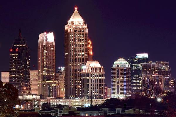Municipality Photograph - Atlanta Towers by Frozen in Time Fine Art Photography