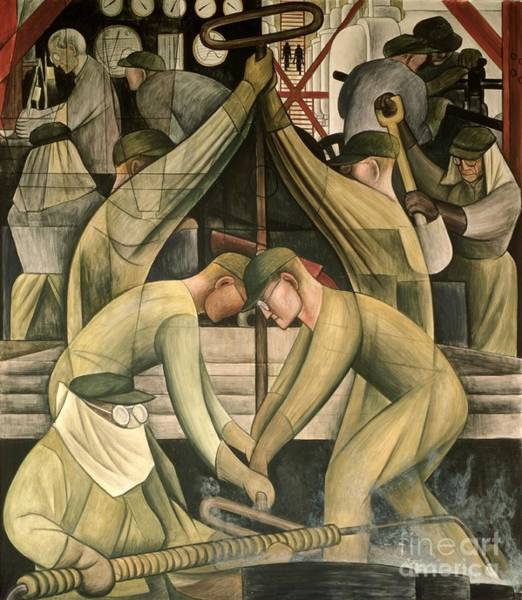 Wall Art - Painting - Detroit Industry  South Wall by Diego Rivera