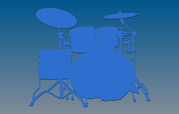 Drum Player Wall Art - Photograph - Detroit Lions Drum Set by Joe Hamilton
