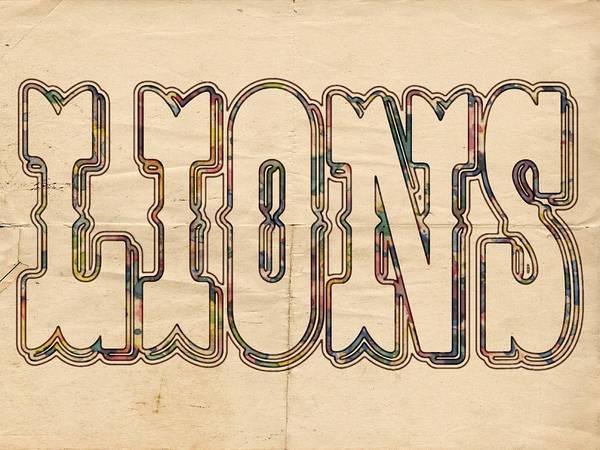 Painting - Detroit Lions Logo Vintage by Florian Rodarte