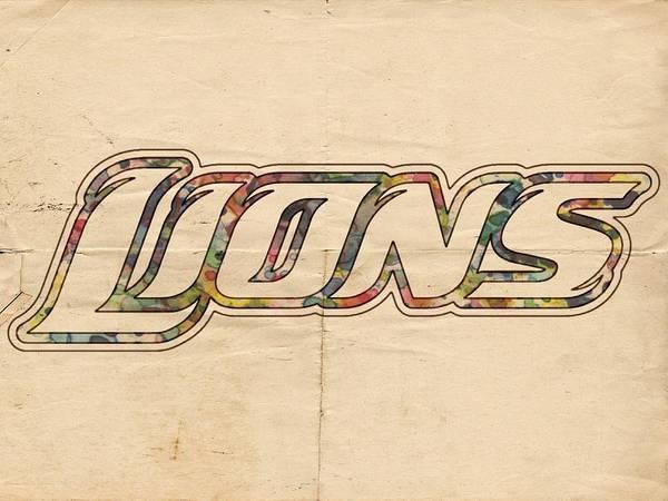 Painting - Detroit Lions Poster Art by Florian Rodarte