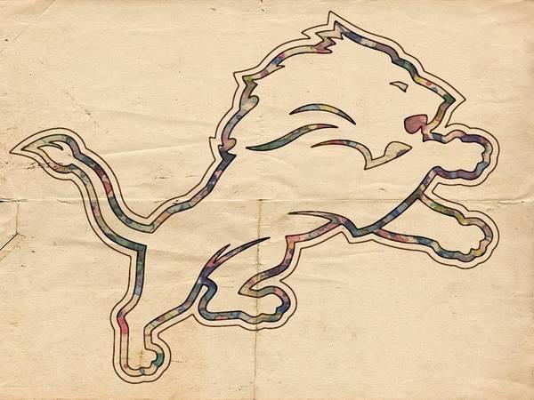Painting - Detroit Lions Poster Vintage by Florian Rodarte