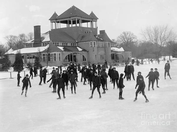 Detroit Photograph - Detroit Michigan Skating At Belle Isle by Anonymous