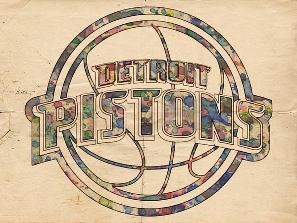Slamdunk Painting - Detroit Pistons Poster Art by Florian Rodarte