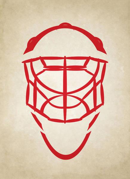 Wall Art - Photograph - Detroit Red Wings Goalie Mask by Joe Hamilton
