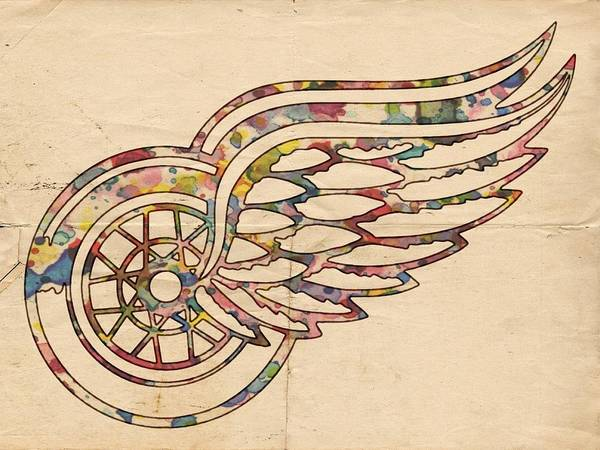 Painting - Detroit Red Wings Poster Art by Florian Rodarte