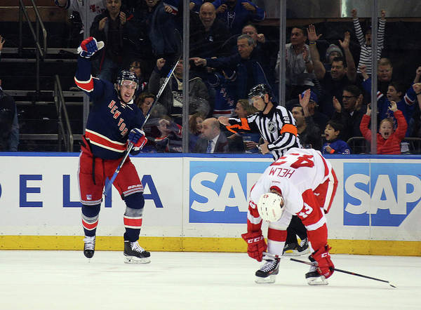 Madison Square Garden Photograph - Detroit Red Wings V New York Rangers by Bruce Bennett