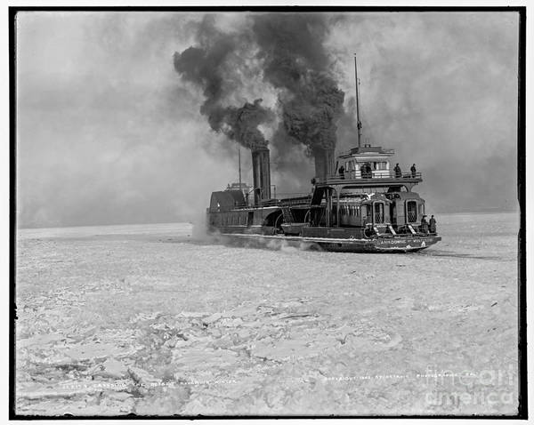 Photograph - Detroit River Crossing by Russell Brown