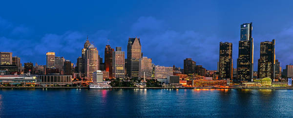 Wall Art - Photograph - Detroit Skyline Early Night by Levin Rodriguez