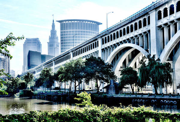 Detroit-superior Bridge - Cleveland Ohio - 1 Art Print