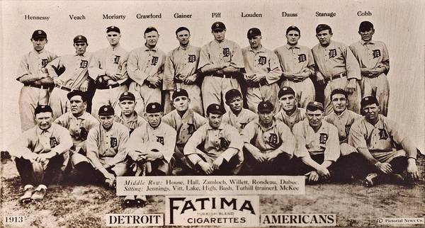 Wall Art - Photograph - Detroit Tigers 1913 by Benjamin Yeager