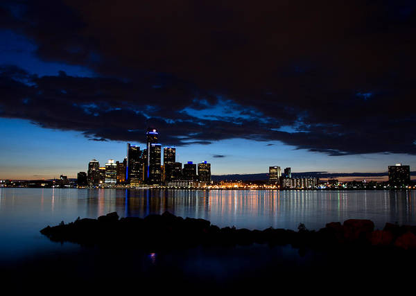 Wall Art - Photograph - Detroit Twilight by Cale Best