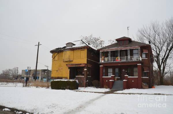 Photograph - Detroit Yellow House by Randy J Heath