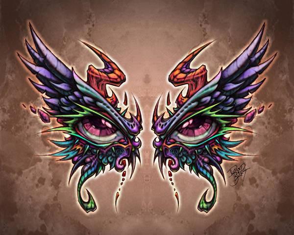 Wall Art - Digital Art - Devil Angel Eyes by David Bollt