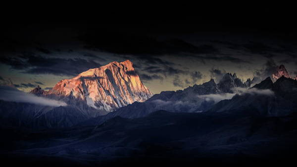 Dark Clouds Photograph - Devildom The Snow Capped Mountains A??a??c??ae??a??a?? by Qiye????