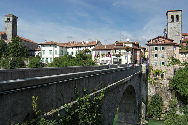 Friuli Photograph - Devils Bridge Entering Cividale Del by Rebecca E Marvil