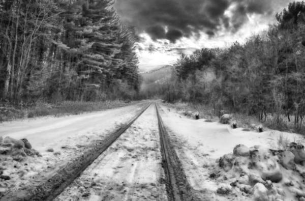 Photograph - Devil's Lake State Park Railroad In Black And White by Ricky L Jones