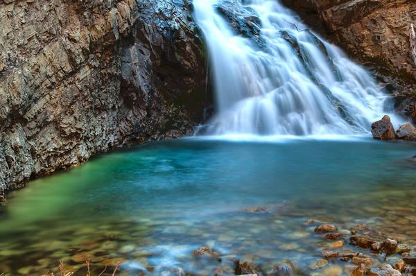 Aqua Green Photograph - Devil's Punchbowl Waterfall by Mike Berenson