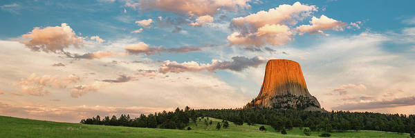 Wall Art - Photograph - Devils Tower Against Cloudy Sky by Panoramic Images