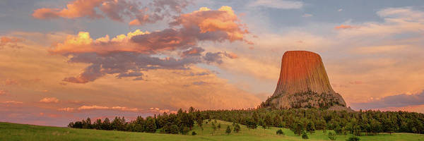 Wall Art - Photograph - Devils Tower At Sunset, Devils Tower by Panoramic Images