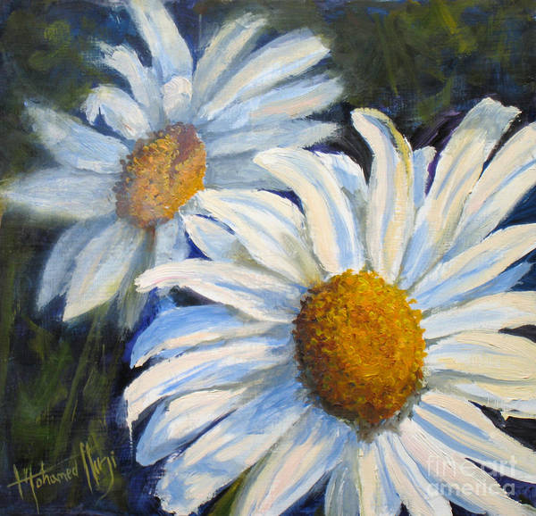 Camomile Painting - Devine Daises by Mohamed Hirji