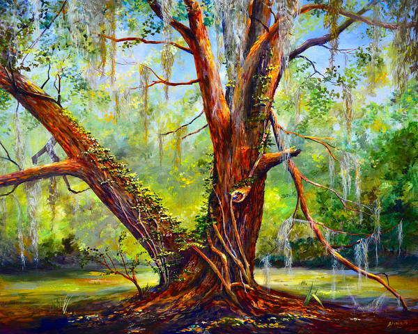 Wall Art - Painting - Devine Oak by AnnaJo Vahle