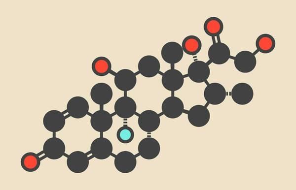 Wall Art - Photograph - Dexamethasone Glucocorticoid Molecule by Molekuul