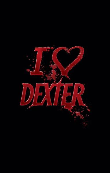 Suspense Digital Art - Dexter - I Heart Dexter by Brand A