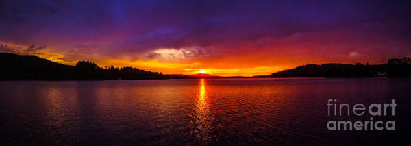 Photograph - Dexter Lake Oregon Sunset 2 by Michael Cross