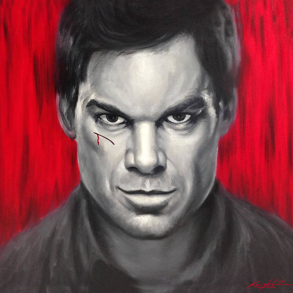Serial Killer Painting - Dexter Serial Killer by Travis Knight