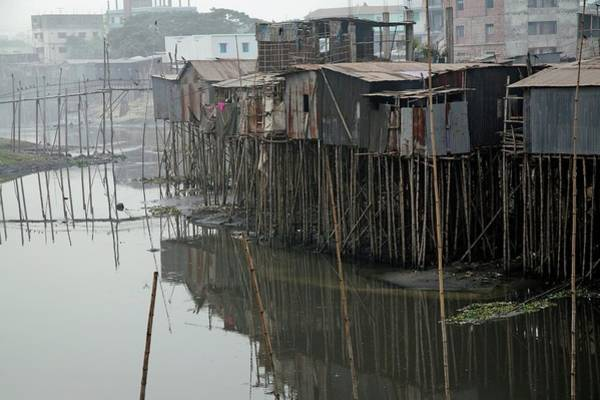 Developing Country Photograph - Dhaka Slum by Peter Menzel/science Photo Library