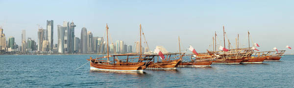 Photograph - Dhows On Parade In Doha by Paul Cowan
