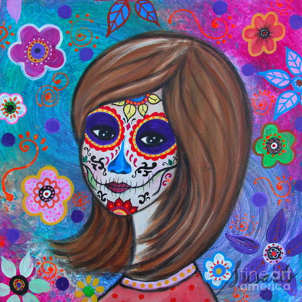 Tats Painting - Dia De Los Muertos Amiga by Pristine Cartera Turkus