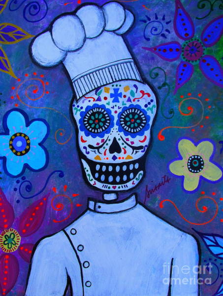 Wall Art - Painting - Dia De Los Muertos Cocinero by Pristine Cartera Turkus