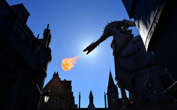 Potter Wall Art - Photograph - Diagon Alley Dragon Fire by David Lee Thompson