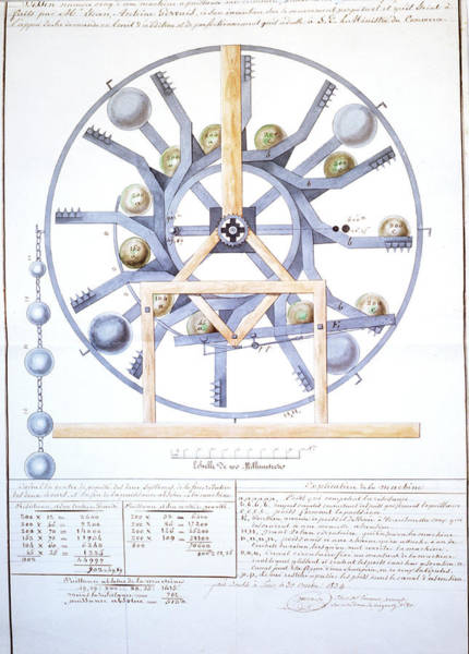 Perpetual Photograph - Diagram Showing Perpetual Motion Machine by J-l Charmet/science Photo Library