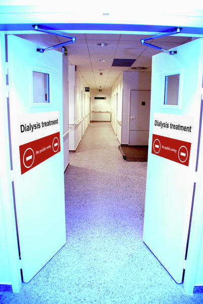 Wall Art - Photograph - Dialysis Unit Entrance by Aj Photo/science Photo Library