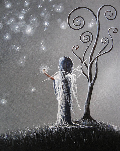 Wall Art - Painting - Diamond Fairy By Shawna Erback by Erback Art