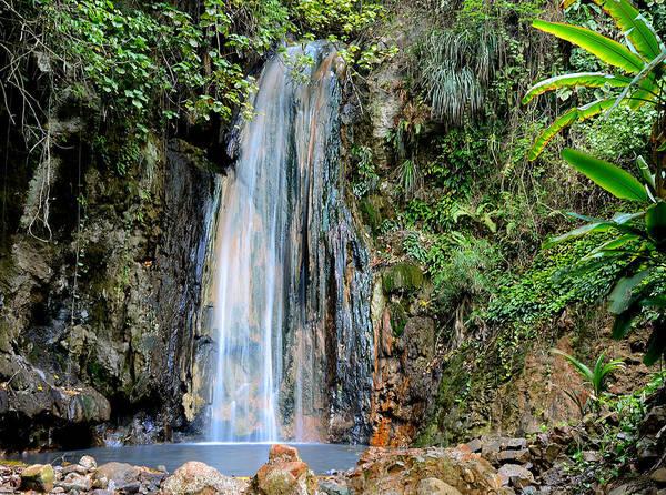 Wall Art - Photograph - Diamond Falls - Saint Lucia by Brendan Reals