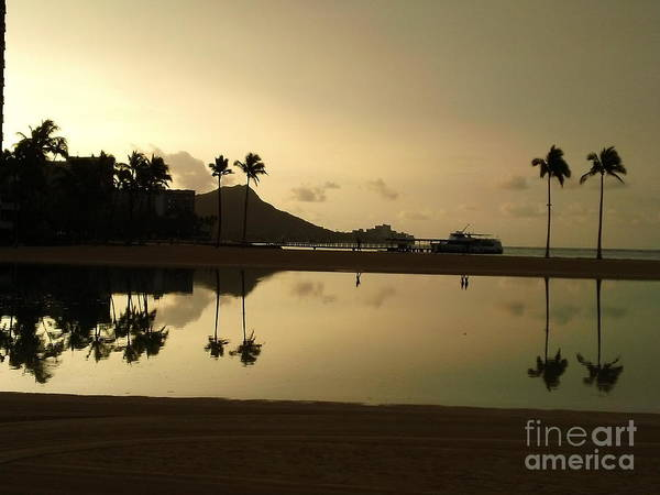 Photograph - Diamond Head Reflection by Laura  Wong-Rose